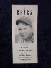 Vintage 1946 Newark Bears Baseball Player Roster and Training Schedule 663
