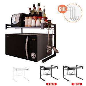Microwave Oven Rack Stand Shelf Stainless Steel Kitchen Storage Organiser UK