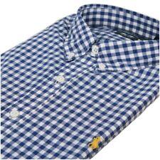 Ralph Lauren  Men's Slim Fit Blue Check Long Sleeve Casual Shirt  Size XL