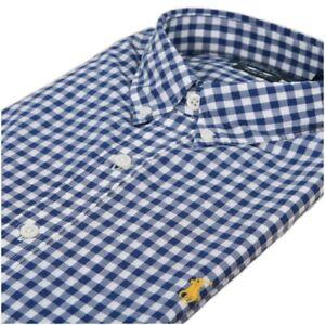 Ralph Lauren  Men's Slim Fit Blue Check Long Sleeve Casual Shirt  Size L