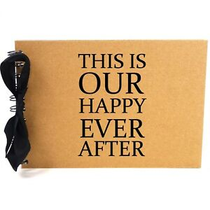 Ribbon, Our Happy Ever After, Photo Album, Scrapbook, Blank White Pages, A5