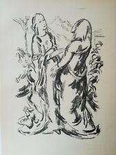 Karl Caspar Heimsuchung 1920 Lithographie Pfister  Schön erhalten.
