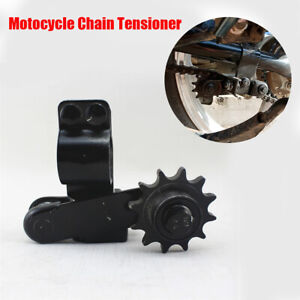 Motorcycle Dirt Bike Adjustable Chain Tensioner Black for Suzuki  Honda Yamaha