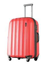 "Red Suitcase Medium 26"" ( 66cm ) Lightweight Hard Spinner TSA Lock Luggage X"