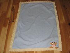 Disney Baby Winnie The Pooh Tigger Boy Blue Plush Fleece Blanket Yellow Cream