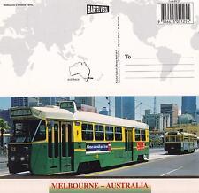 Melbourne's Famous Trams OVERSIZE postcard Melbourne - Australia NEW