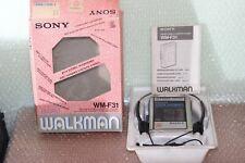 SONY WALKMAN WM-F31 + BOX MANUAL COMPLETE BOX INSTRUCTIONS RARE INTROVABILE VGC
