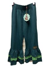 NWT Matilda Jane THE GROVE BIG RUFFLES Pants Sz 8 Character Counts Green Lace