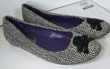 Ralph Lauren Rugby houndstooth wool Black beaded skull  shoes Size 39
