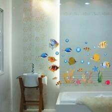 DecoBay Fish Bathroom Stickers/Childrens Room Wall Stickers Adhesive Removable