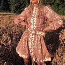 Zimmermann Paisley Linen Mini Dress Size 1 New $950