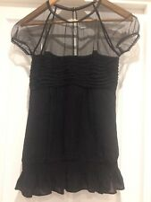 BCBGMAXAZRIA black silk top size U.K. XS