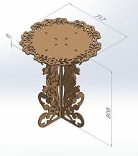 Router Laser CNC DXF Files Table Decoration ArtCAM Vectors 2D Woodworking