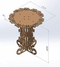 Router Laser CNC DXF Files Table Decoration ArtCAM Vectors 2D Woodworking