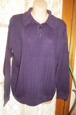 VINTAGE  ~ NOW ~ Purple/Collar JUMPER/TOP  * Size 14  *