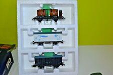 piko jouef  ho  ancien     coffret   special  sncf  avec 3 wagons   marchandises
