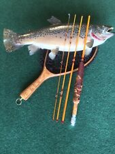 Custom made 6', 4pc, 2wt, moderate action fly rod, wood grip
