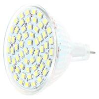 G / GU / GX5,3 MR16 3528 SMD 60 LED BULB SPOT Lamp 4W 12V WHITE Light L6V5