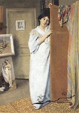 Kunstpostkarte - Vallotton:  Madame Vallotton im Morgenrock