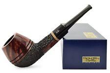 "New Briar Wood Tobacco Smoking Pipe straight ""Bulldog - Half Rustic"", ~ 5-1/2"""