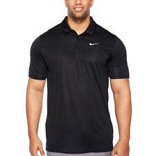 NWT NIKE Mens Big Tall Performance GOLF SS Polo Shirt BLACK