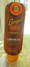 """CALIFORNIA TAN """"GINGER SPICE"""" LOTION, HOT ACTION, LEVEL 3 - 6Z - STEP 1 - NEW"""