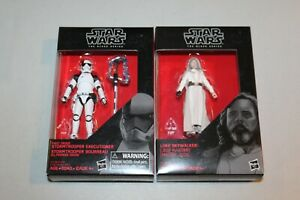 "First Order Storm Trooper Executioner & Luke Star Wars Black Series 4"" MISB MISP"