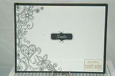 Wedding Guest Book Hallmark Black And White Cover New~Lined Pages~Free Ship Us~