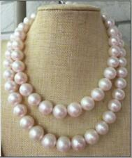 """35"""" HUGE 12-14MM NATURAL SOUTH SEA GENUINE WHITE PEARL NECKLACE 14K GOLD CLASP"""