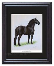 Dunham'S Brilliant 1271 - famous black Percheron Draft Horse Framed Art painting