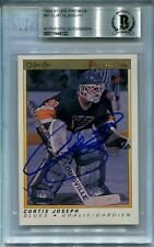 CURTIS JOSEPH signed autographed 1990-91 OPC PREMIER ROOKIE CARD RC BECKETT