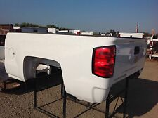 2015 Chevy short bed 6.6' white takeoff TRUCK BED