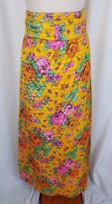 Vintage Lanz Originals Quilted Hippie Boho Maxi Skirt Womens S 60s Loud Festival