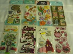 LOT OF 8 BY JOLEE'S AND STICKO EK.TRAVEL,FAMILY REUNION,TRAVEL POSTERS,BAKING.
