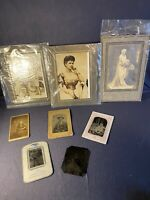 Lot Of 8 Antique Photosgraphs 4 Tintypes, Edward VII & Kaiser, Queen Mary