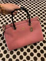 COACH Colorblock Pebble Leather Mia Satchel Crossbody Bag Purse F76641 ROUGE