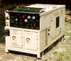 10 KW diesel generator 120/240 single & 208 V 3 phase Army surplus 45 hrs. ready