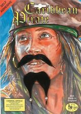 Caribbean Pirate Moustache & Beard Set Pirates Fancy Dress Accessory P1295