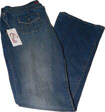 NWT BLUE CULT designer blue jeans denim flare 31 X 34 ladies women's