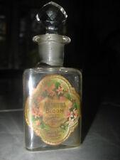 Antique Arbutus Bloom Perfume Bottle Label w/Stopper