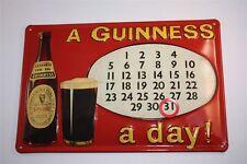 """3D Blechschild Guinness Bier 20x30 cm """"GUINNESS A DAY KALENDER """" Irland Tin Sign"""