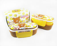 2013 NEW Rilakkuma Double layer/ Two-tier sift-proof Lunch Box with Bag 1 pc
