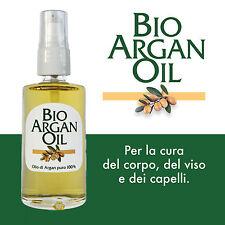 Argan - Olio puro 100% Ecocert Biologico - BioArganOil 50 ml - Vetro + dispenser
