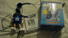 M&M BLUE CHARACTER RADIO AND SNOWBALL ORNAMENT