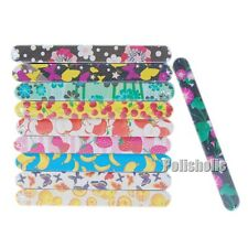 Fruits Floral Nail Art Sanding File Buffing Buffer Round Edge Tool Random Color