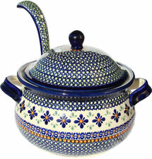 Polish Pottery Soup Tureen 13.4 cups with Ladle from Zaklady GU1004/1367-du60