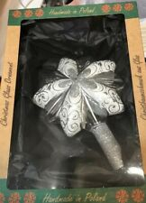 10 Inch 10 Point Star GLASS TREE TOPPER Handmade in Poland Hand Blown NEW in Box