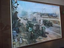 Lovely Terance Cuneo ' Cars at Le Mans' framed print. Great action picture