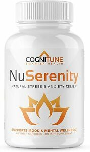 NuSerenity - Natural Stress and Anxiety Relief Supplement - Reduce Stress 60ct