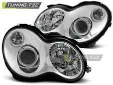 FARI ANTERIORI HEADLIGHTS MERCEDES W203 C-KLASA 00-04 CHROME *2720